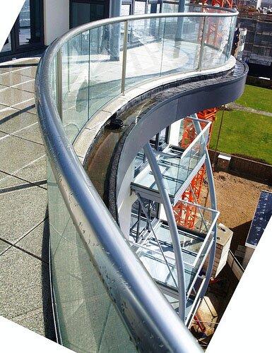 гнутое стекло моллированое стекло